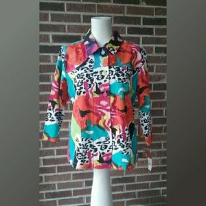 Choices Jacket Bright Multi Colored New with Tags